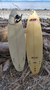 Two surfboards