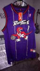 Toronto Raptors Tracy McGrady Purple Throwback Jersey
