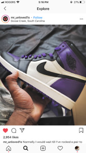 LOOKING FOR HIGH COURT PURPLE RETRO 1s in 7Y