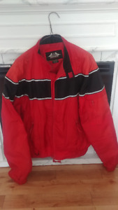 Red summer Motorcycle riding Jacket, Unisex size L, asking $20