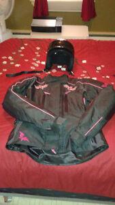 Manteau de moto et casque de moto medium Dot