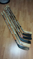 MAKE AN OFFER!!! ASSORTED WOOD,GRAPHITE,CARBON USED HOCKEY STICK