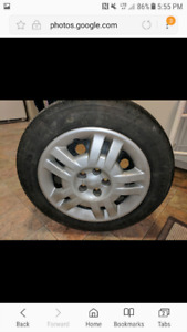 "195/60/R15- 15"" ALL SEASON TIRES ON STEEL RIMS 3/4 tred-$425"