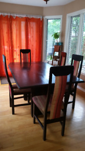 Wood Dining Room Set with 6 Chairs for sale  Gatineau