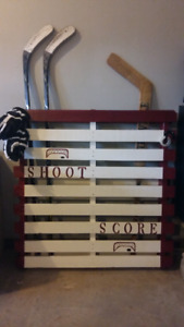 Need a great and creative way to store your sports equipment?