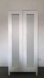 White Ikea Wardrobe £45 2 door - 180H x 81W x 50D - INCLUDING DELIVERY