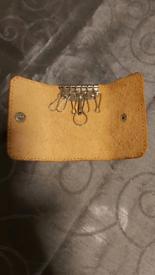 Genuine Leather keyrings Case bag New