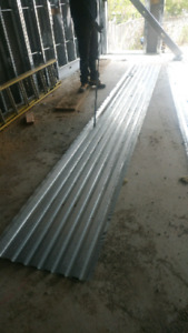 "Corrogated metal sheets -16'4""x2'2"" decking"