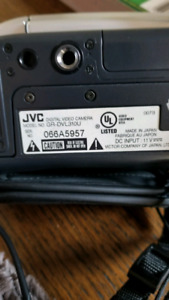 Jvc camcorder with tapes, remote, chargers and connections