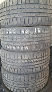 225 40 18 Wintertrack snow tires. 80%install and balance includ