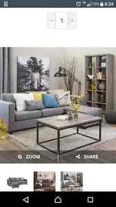 Grey couch bought from Jysk a month ago for sale!!! Peterborough Peterborough Area image 1
