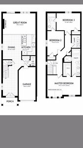 Brand New 3bdrs end unit Townhouse available on July1st