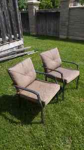 2 patio chairs with cushions excellent condition Stratford Kitchener Area image 2