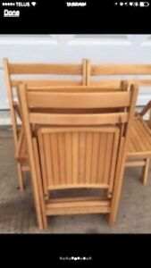 Folding Wooden Chairs Peterborough Peterborough Area image 3