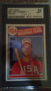 Mark McGwire graded Rookie Card