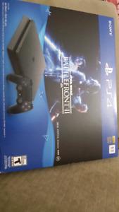 Playstation 4 avec 2 manettes neufs et  cd star wars battlefront