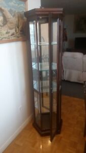 display cabinet in like new condition