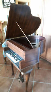 Unique Antique Grand Piano Bar with Keyboard
