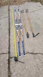 Cross country skis and poles need gone