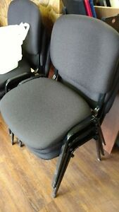 BLACK NEW BANQUET CHAIRS - GREAT FOR OFFICE $10/each