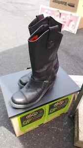 Size 6.5 leather boots Harley-Davidson