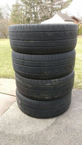 "18"" Bridgestone Potenza RE760s summer tires 215/45R18"
