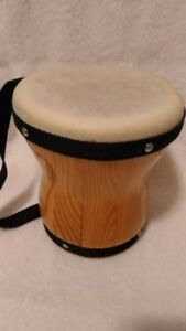 Drum African Mini Bongo Drum 6 inches by 5 1/2 inches Brampton