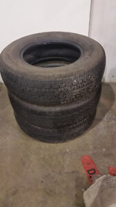 ST205/75R14 Trailer Tires In Good Condition No Cracks Good Tread