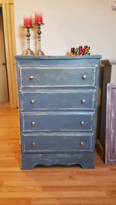 Shabby Rustic Antique Style Dresser