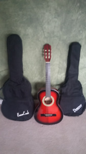 Youth Guitar with 2 Carrying Cases