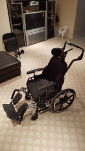 Reclining Tilt Wheelchair with Head Support - Maple Leaf