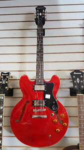 Used 2015 Epiphone Dot Cherry Red Electric Guitar