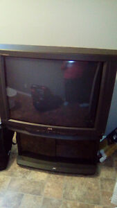 JVC TV and stand