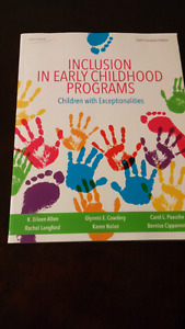 ECE text book: Inclusion in Early Childhood Programs