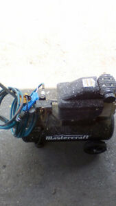 Mastercraft air compressor 8gallon 2hp