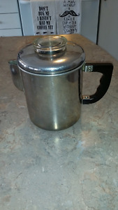 vintage antique 4 cup coffee percolator, works great!