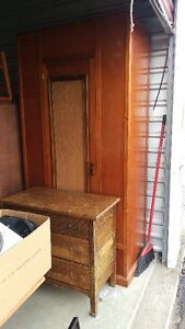 Large Solid Vintage Tall Wardrobe With Drawer