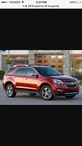 2015 Chevrolet Equinox 2lt like new