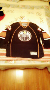 Edmonton Oilers Hockey Jersey 44 SOURAY Reebok Large