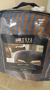Twin bed in bag