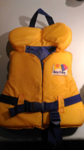 Yellow infant life jacket 20-30 Ibs SPPU