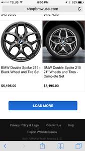 BMW Rims: 4-21 inch style 215 gunmetal Rims for sale