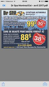 Super promotion printanière 88$/99$ pour votre auto