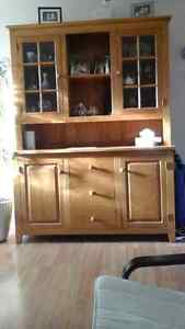 Oak hutch and dining table