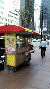 Downtown hot dog cart and location for rent