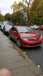 2012 TOYOTA COROLLA , TRES BAS MILLAGE , UNE SEULE TAXE A PAYER