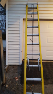 "Fiber Glass Extension Ladders 16' -20""- 24'-28'"