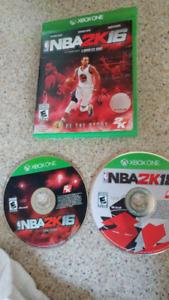 Jeux NBA 2K16 et NBA 2K18pour console XBOX One