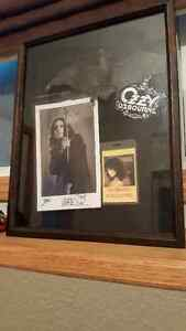 Ozzy Osbourne Signed Photo & Display Case!