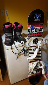 Snowboard boots and board